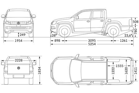 volkswagen amarok 2 0 tdi 4x4 autokatalog ma e gewichte alle autos. Black Bedroom Furniture Sets. Home Design Ideas