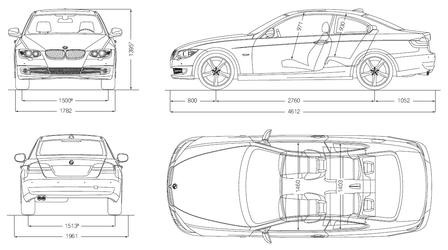 bmw 320d coupe 2010 autokatalog ma e gewichte. Black Bedroom Furniture Sets. Home Design Ideas