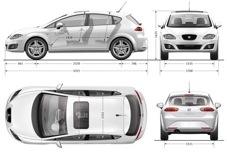 seat leon 1 2 tsi 2010 autokatalog ma e gewichte. Black Bedroom Furniture Sets. Home Design Ideas