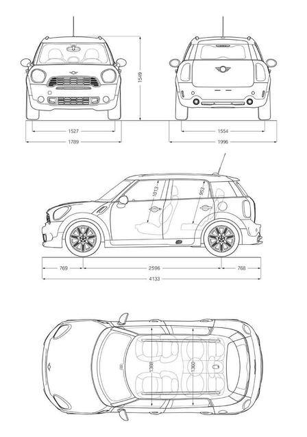mini cooper john cooper works countryman autokatalog ma e gewichte alle autos. Black Bedroom Furniture Sets. Home Design Ideas