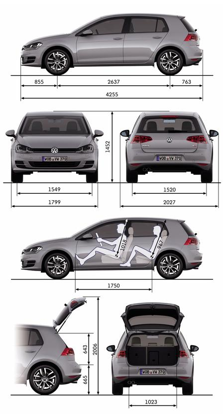volkswagen golf 2 0 tdi 4motion 2013 autokatalog ma e gewichte alle autos. Black Bedroom Furniture Sets. Home Design Ideas