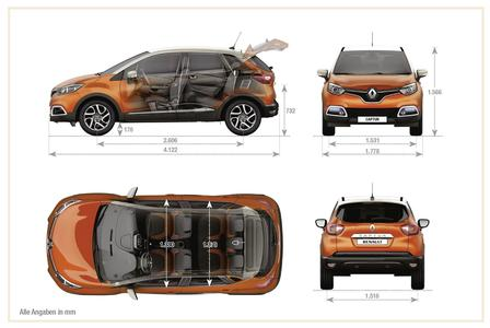 renault captur tce 120 2013 autokatalog ma e gewichte alle autos. Black Bedroom Furniture Sets. Home Design Ideas