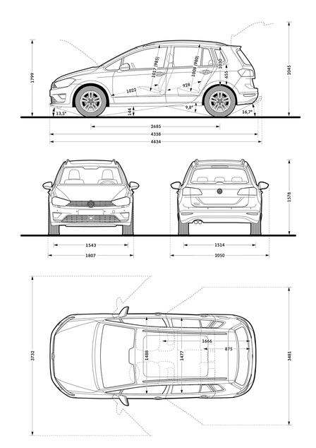 volkswagen golf sportsvan 2 0 tdi 2014 autokatalog. Black Bedroom Furniture Sets. Home Design Ideas