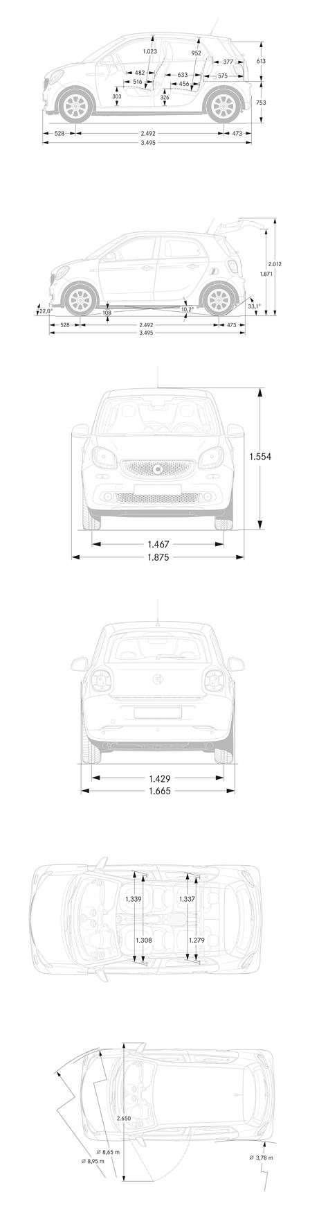 smart forfour 52 kw coupe 2014 autokatalog ma e. Black Bedroom Furniture Sets. Home Design Ideas