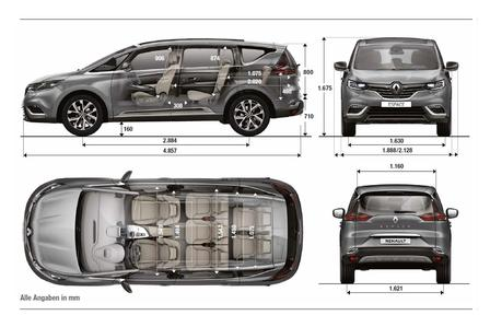 renault espace tce 200 edc 2015 autokatalog ma e gewichte alle autos. Black Bedroom Furniture Sets. Home Design Ideas