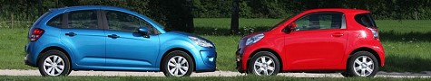 Toyota iQ vs. Citroen C3