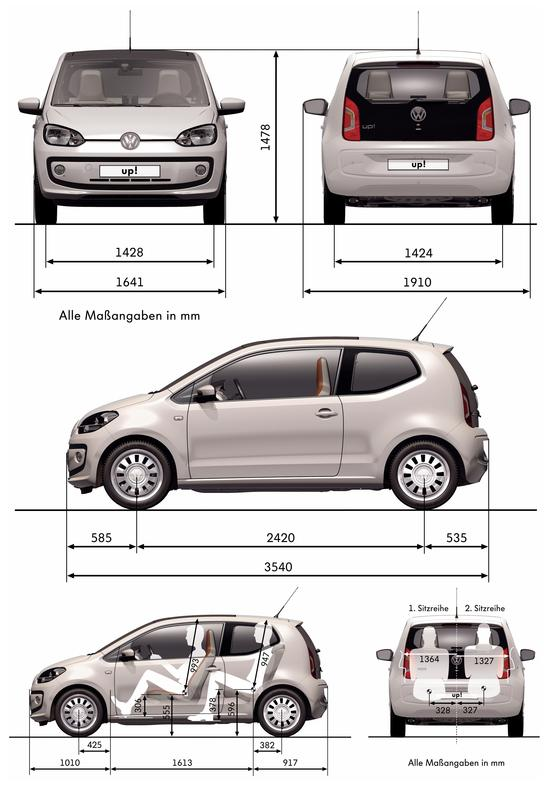 volkswagen up eco 0 autokatalog ma e und gewichte. Black Bedroom Furniture Sets. Home Design Ideas