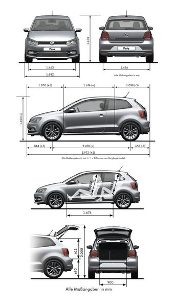 volkswagen polo 1 2 tsi 2014 autokatalog ma e und. Black Bedroom Furniture Sets. Home Design Ideas
