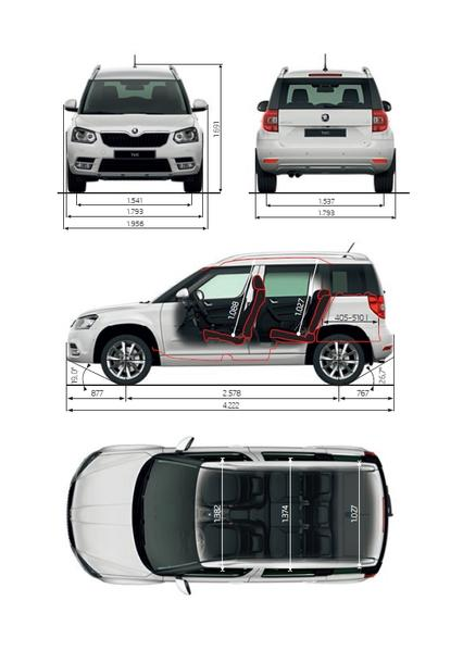 skoda yeti 1 4 tsi 4x4 2015 autokatalog ma e und gewichte. Black Bedroom Furniture Sets. Home Design Ideas